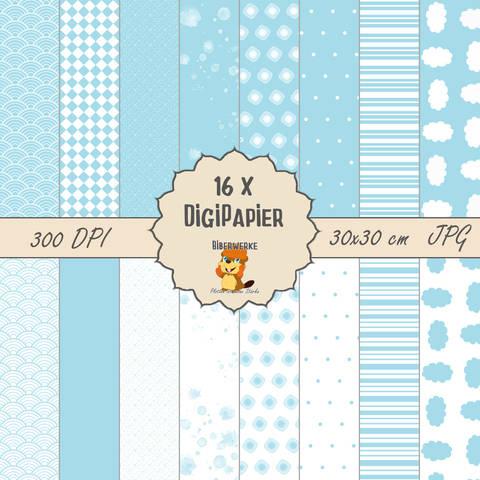 DigiPapier Pastell Blau bei Makerist