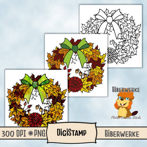 DigiStamp Herbstkranz bei Makerist