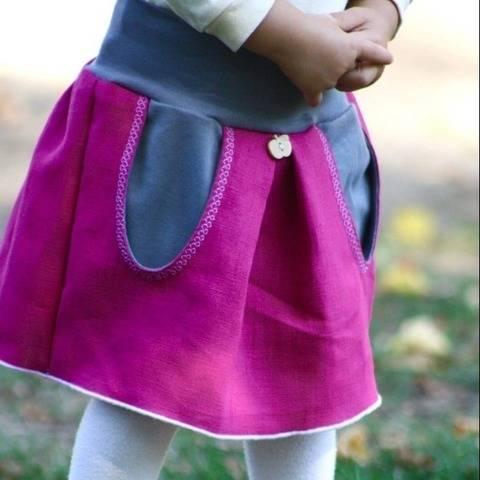 Taschenrock - Größen 68 bis 98 bei Makerist
