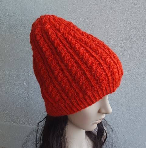 Loose fit cable beanie, 2 years to Man - Cassidy at Makerist