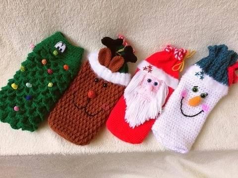 Niedliche Flaschenbezüge für Weihnachten bei Makerist