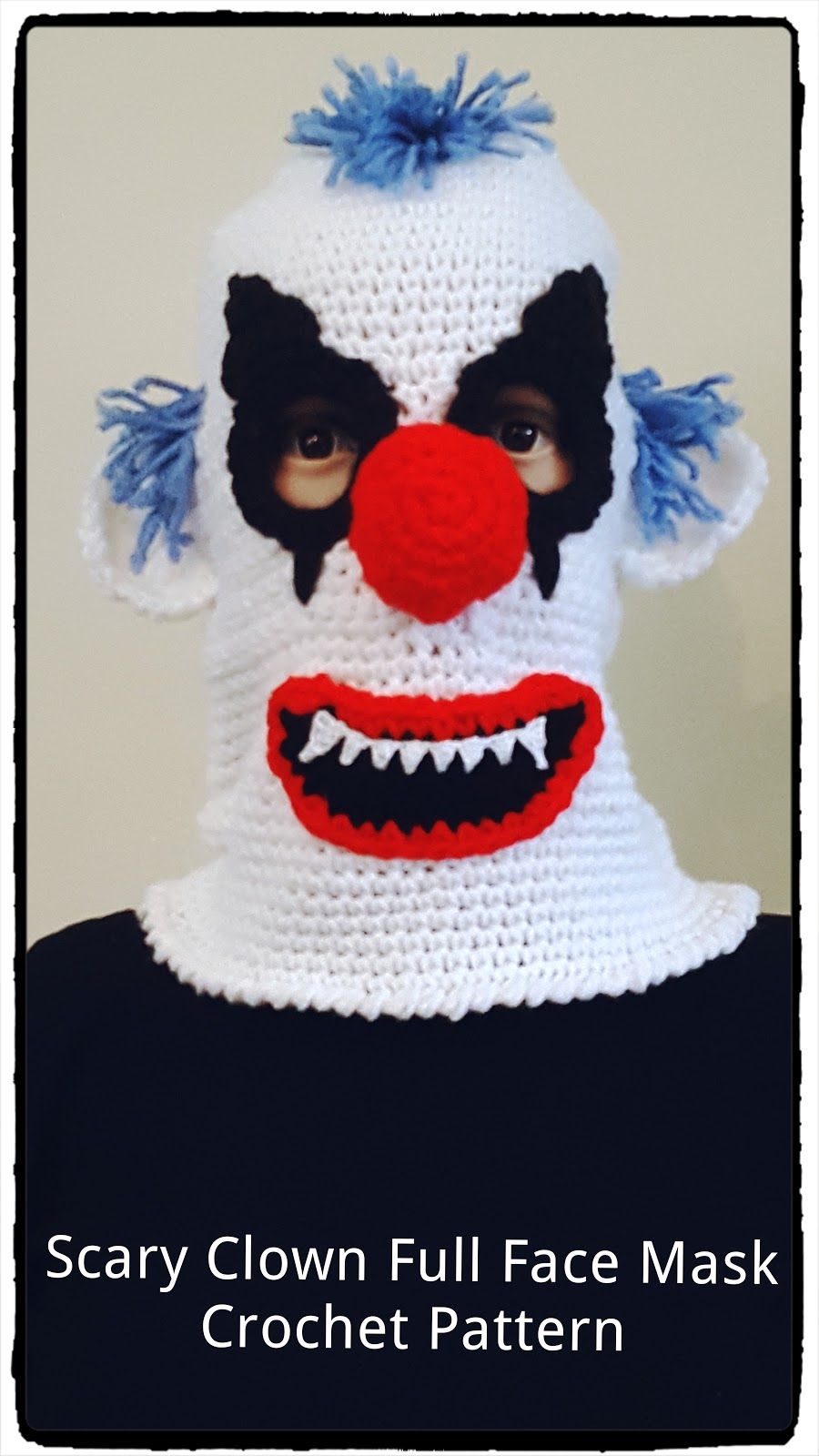 Crazy Clown Ski Mask Crochet Pattern
