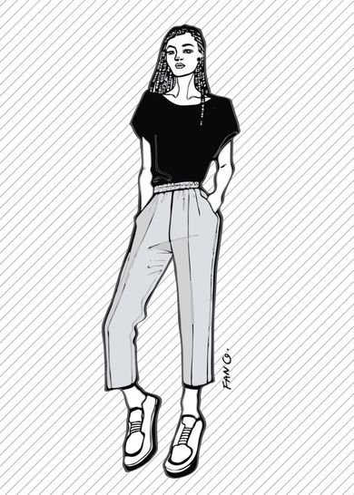 ROMMY the cropped trousers - PDF sewing pattern at Makerist - Image 1