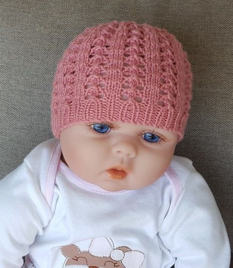 Baby's lace beanie - 0 to 12 months - Bethany at Makerist - Image 1