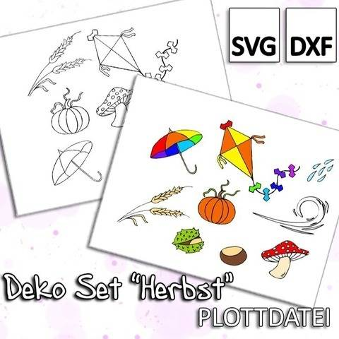 "Deko Set ""Herbst"" - Plottdatei"