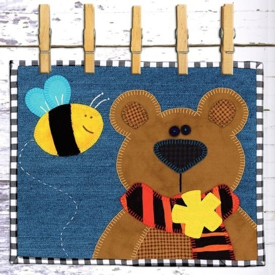 Boris the Bear - Snack Mat Pattern at Makerist - Image 1