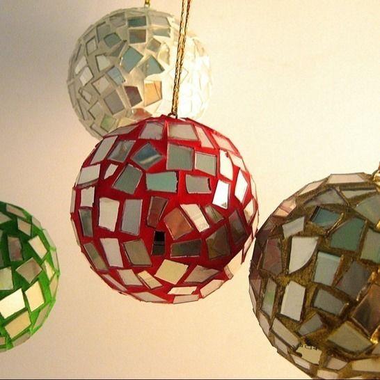 Weihnachtskugeln Dekokugeln Christbaumkugeln Upcycling CDs bei Makerist - Bild 1