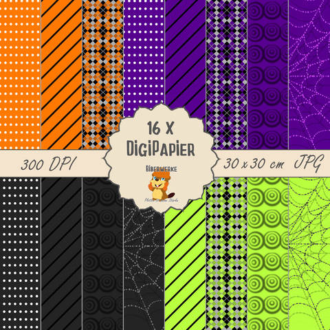 DigiPapier Halloween 1 bei Makerist