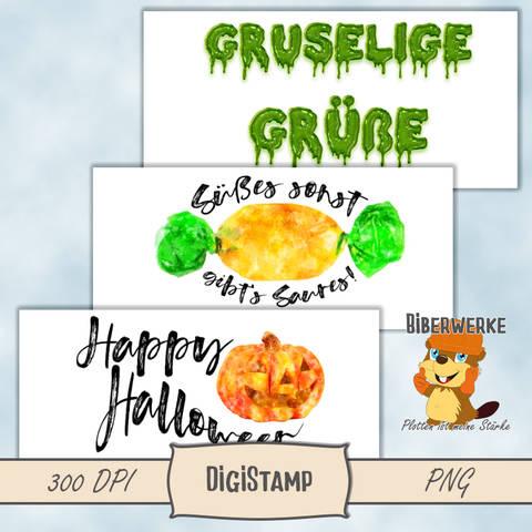 DigiStamp Halloween Schriftzüge bei Makerist
