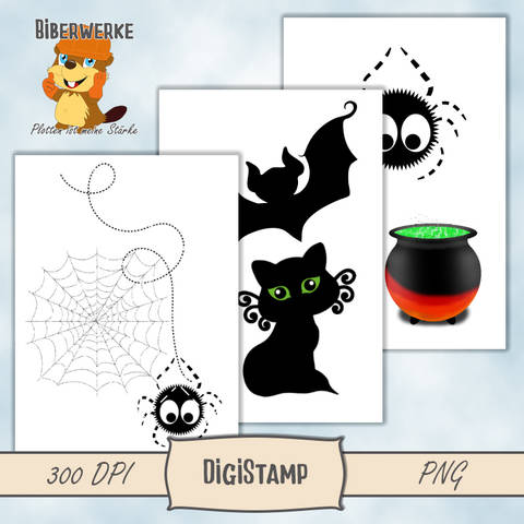 DigiStamp Halloween Mix bei Makerist