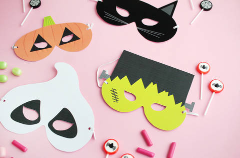 DIY gratuit : masques d'Halloween