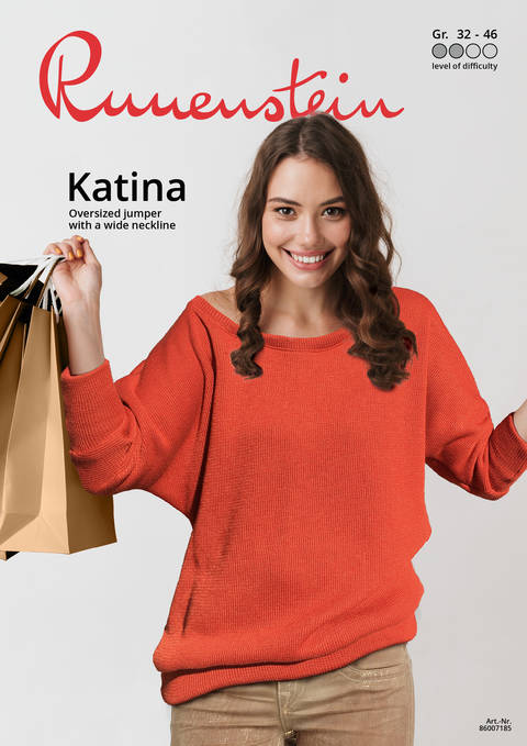 Katina Oversized jumper 32-46 Pattern & Instruction at Makerist