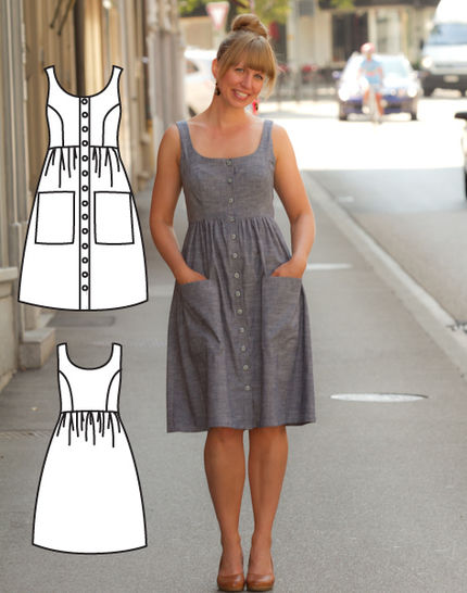 Button down dress pattern at Makerist - Image 1