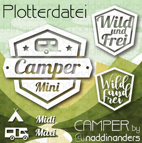 Plotterdatei Camper bei Makerist