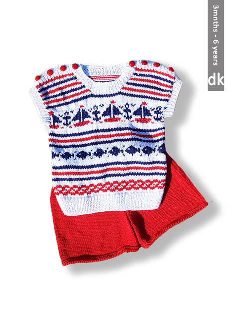 Nautical Top and Shorts For Babies and Children