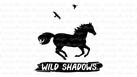 "Plotterdatei ""Wild Shadows"" Pferd im Galopp"