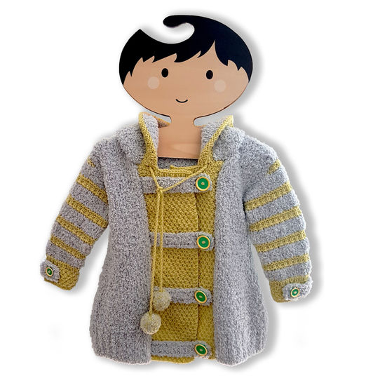 Joyful Hoodie Coat  (0 - 7 Years) at Makerist - Image 1