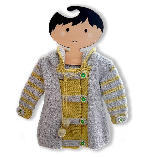 Joyful Hoodie Coat  (0 - 7 Years) at Makerist