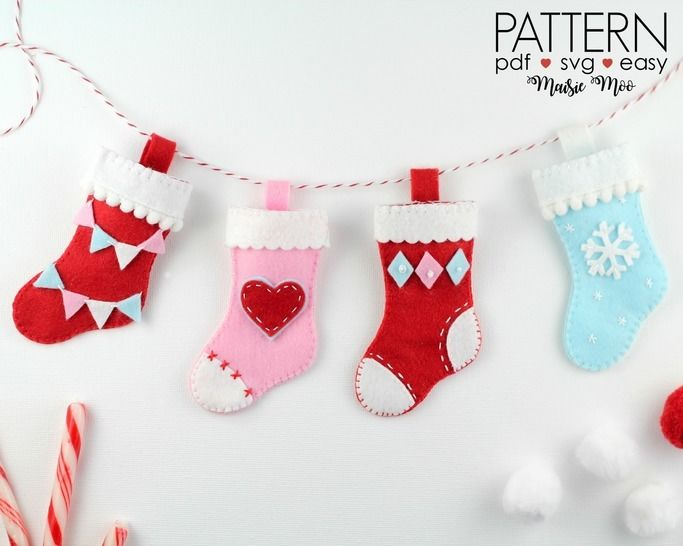 Christmas Stocking Ornament Pattern  at Makerist - Image 1