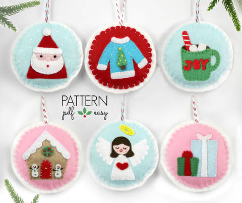 PDF Pattern Christmas Tree Ornament Felt Pattern  at Makerist