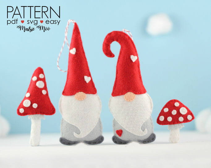 Christmas Gnome Ornament Pattern at Makerist - Image 1