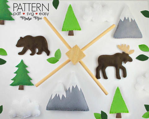 Woodland Baby Mobile Pattern - Moose Grizzly Bear at Makerist