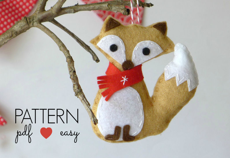 Fox Christmas Ornament Pattern at Makerist - Image 1