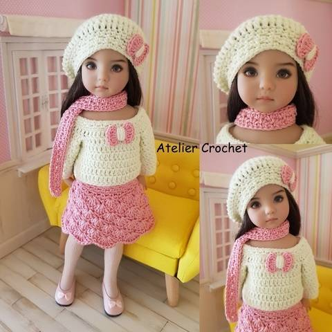 """Izaline"" crochet pattern for Little Darling"