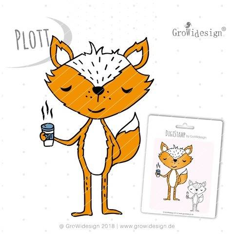 coffeeFOX Plotterdatei inkl. DigiStamp