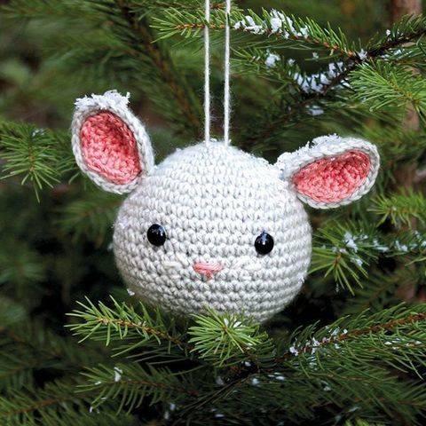 Weihnachtskugel Fussel die Maus - Häkelanleitung  bei Makerist