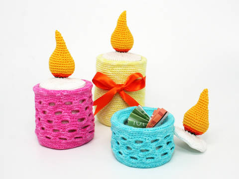 Fill-Up Candle - Crochet Pattern at Makerist