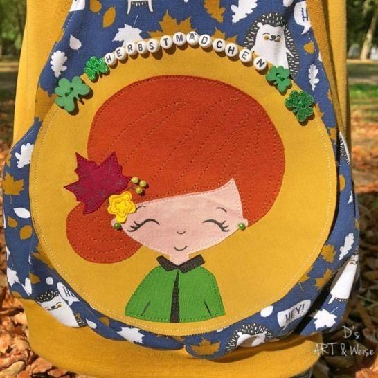 Loula liebt Herbst APPLIKATIONSVORLAGE bei Makerist - Bild 1