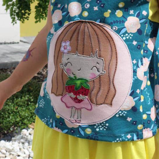 Erdbeersüße Loula APPLIKATIONSVORLAGE bei Makerist - Bild 1
