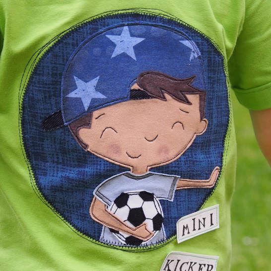 Fußballkinder APPLIKATIONSVORLAGE bei Makerist - Bild 1