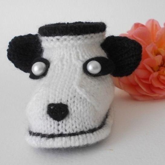 Chaussons Panda 3 mois - tutoriel tricot bébé PDF chez Makerist - Image 1