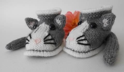Chaussons chat taille 6 mois chez Makerist