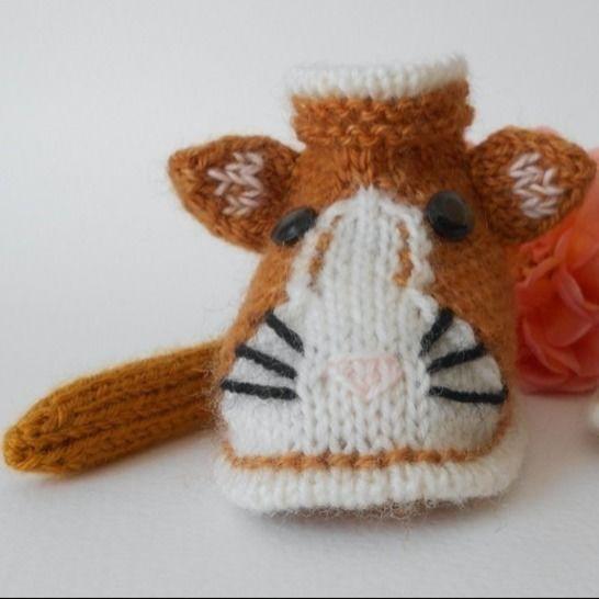 Chaussons chat roux 3/6 mois - tutoriel tricot bébé PDF chez Makerist - Image 1