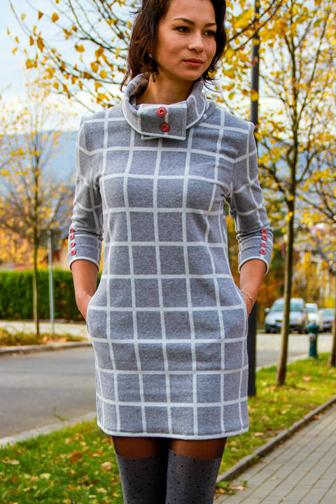 Ladies Autumn / Winter Dress Sewing Pattern at Makerist