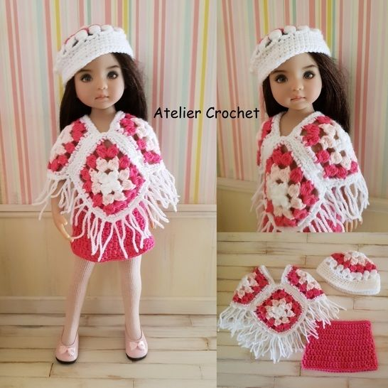 """""""Poncho"""" crochet pattern for Little Darling at Makerist - Image 1"""