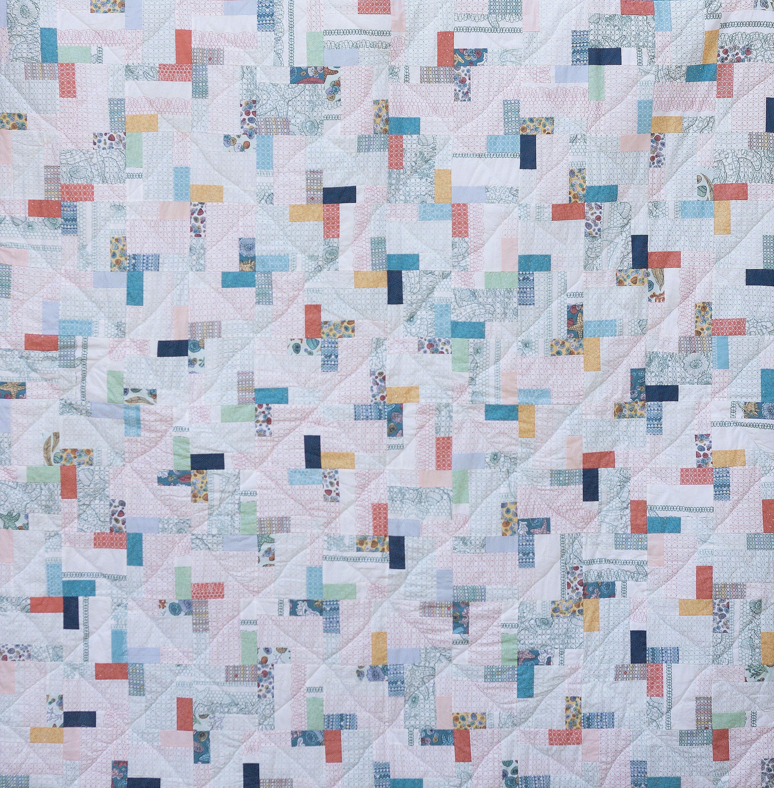 "Quilt Quiltmuster ""Coloured Pavement"" Patchworkanleitung Patchworkdecke"