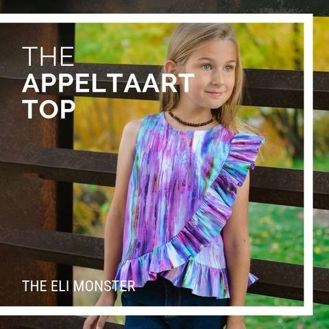 The Appeltaart Top Sewing Pattern for Girls Sized 18m-12y