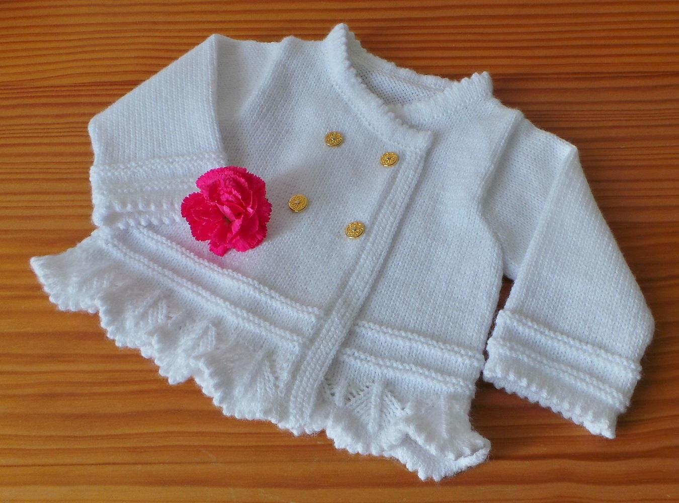 Brassière dentelle 6 mois - tutoriel tricot bébé PDF