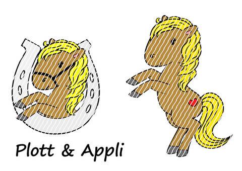 Plotterdatei/Appli Pferd Julchen