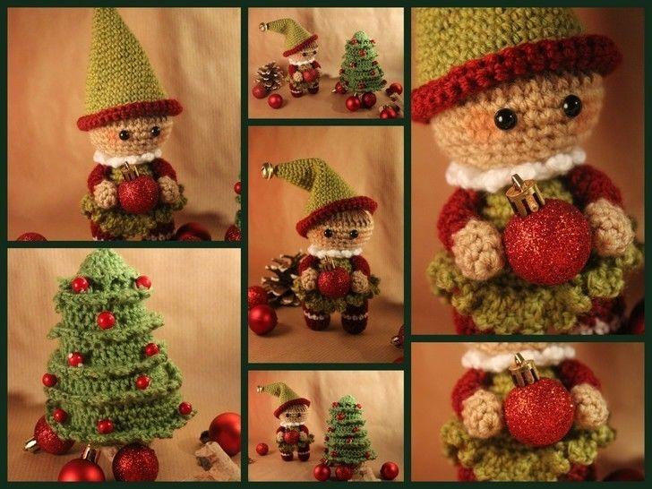"""Häkelanleitung """"Weihnachtself Emil"""" bei Makerist - Bild 1"""