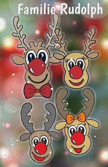 RUDOLPH FAMILIE RENTIER * Teil 1*Ashias Weihnachtszauber bei Makerist - Bild 1