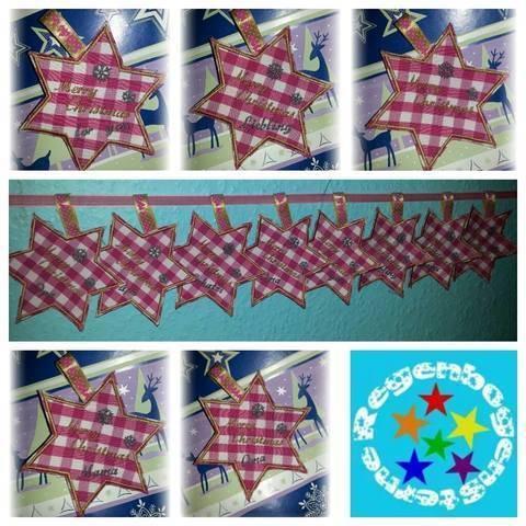 Stickdatei Weihnachtsanhänger 10x10 bei Makerist