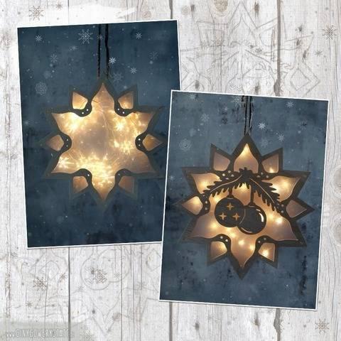 """Leuchtstern """"Weihnachtskugel"""" - Bastelanleitung"""