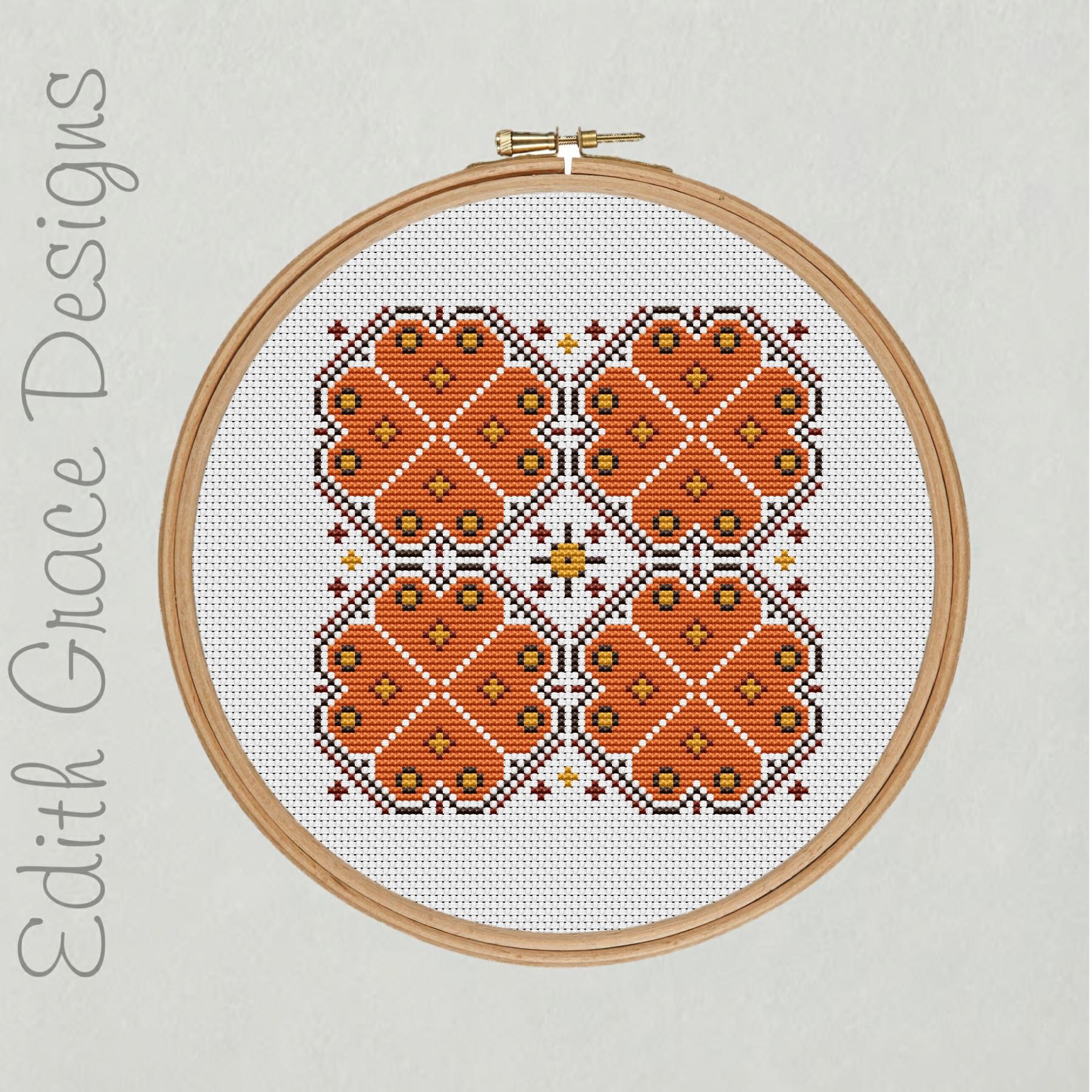 Autumn Geometric Embroidery