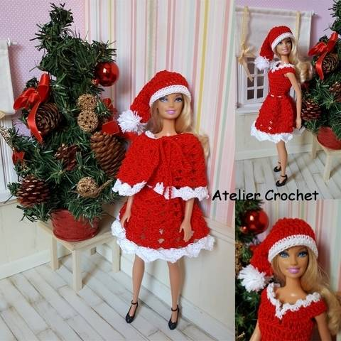 """Merry Christmas"" set für Barbie Modellpuppe bei Makerist"