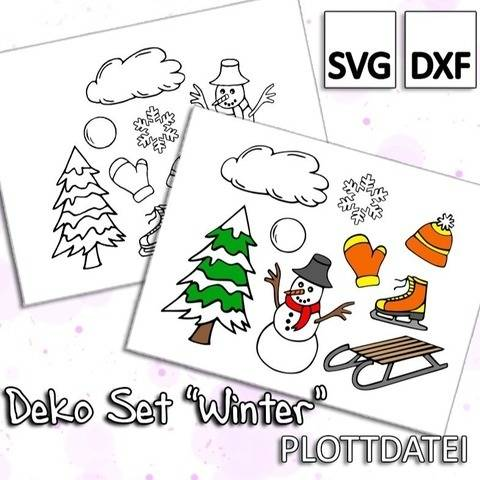 "Deko Set ""Winter"" - Plottdatei"